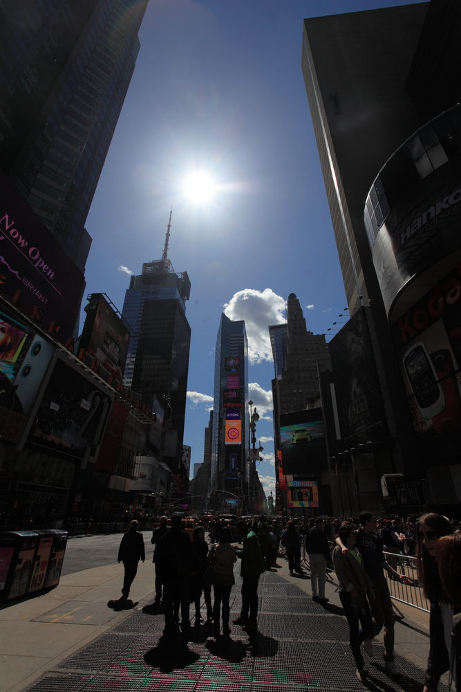 Times Square, New York bei Tag